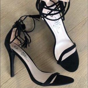 Lulu's Ankle Wrap Heels